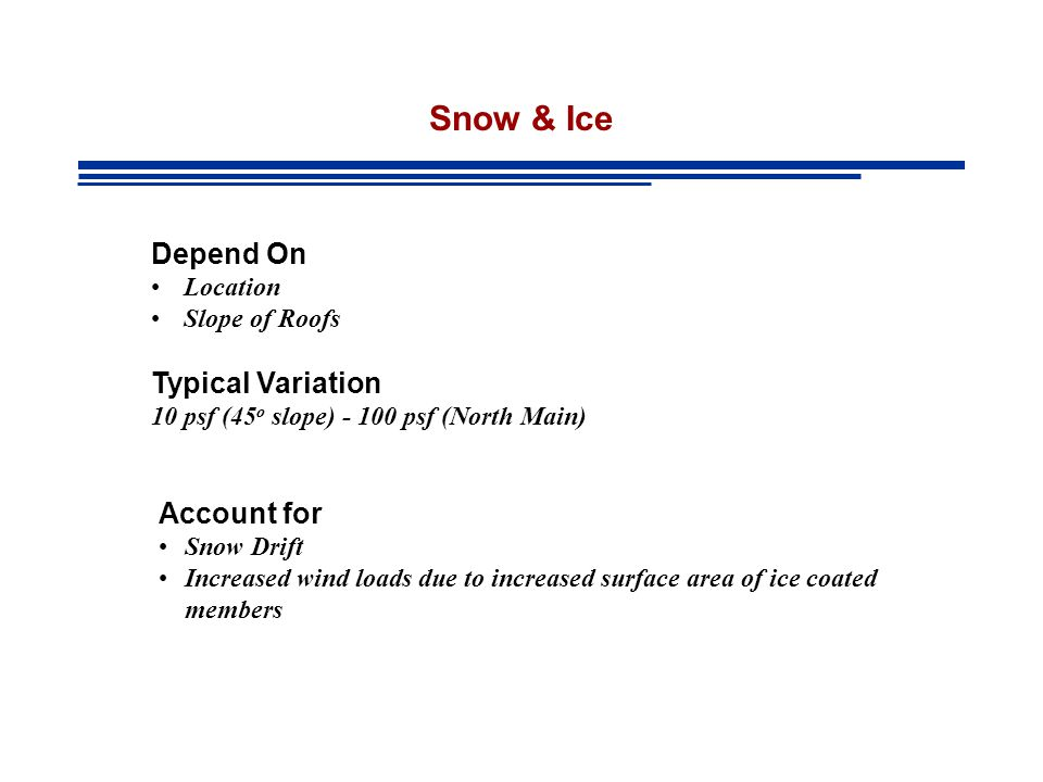 Snow & Ice Depend On Typical Variation Account for Location