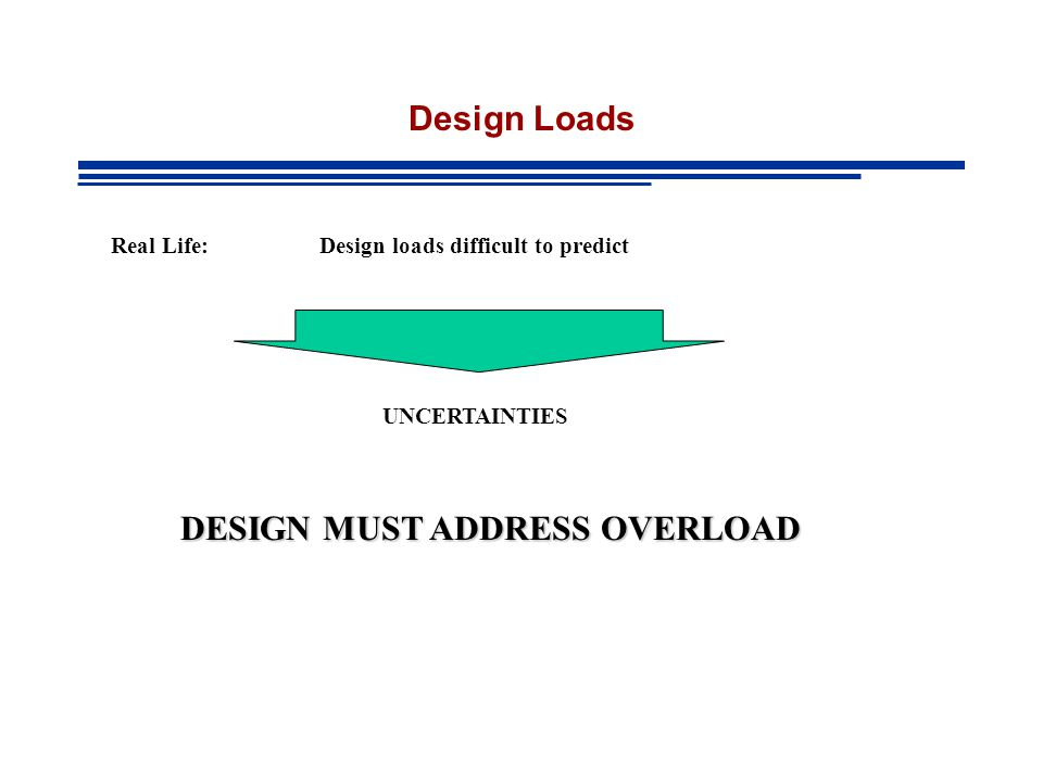 DESIGN MUST ADDRESS OVERLOAD
