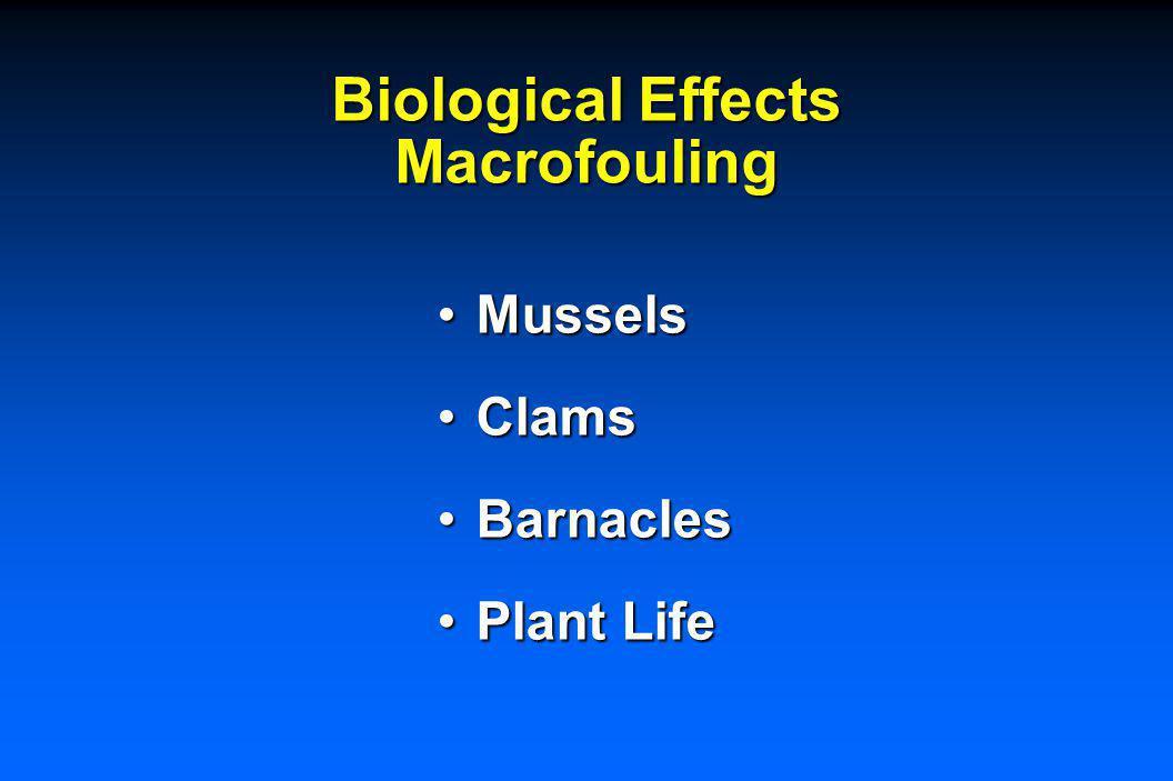 Biological Effects Macrofouling