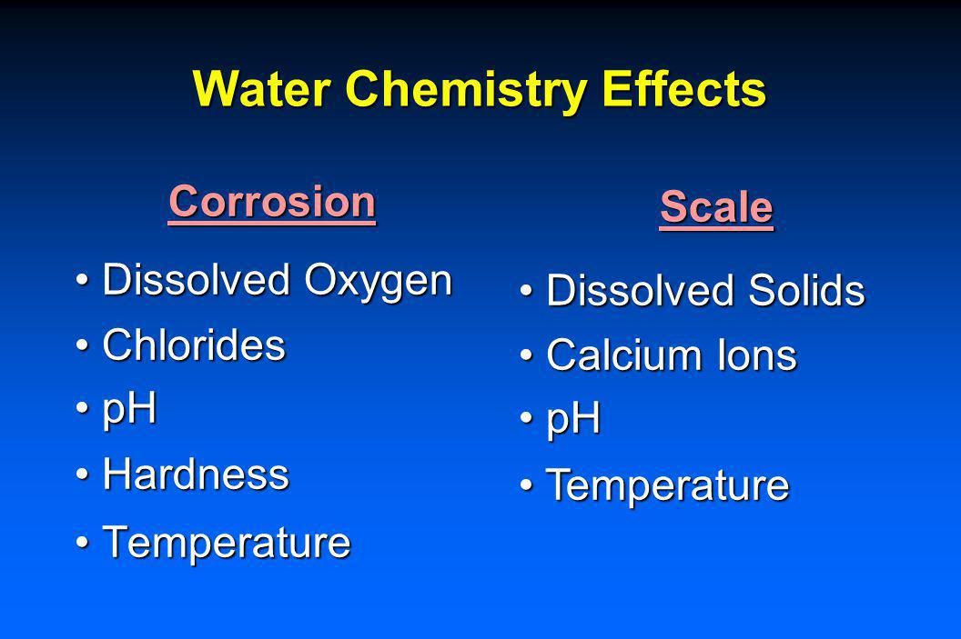 Water Chemistry Effects