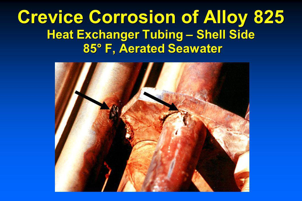 Crevice Corrosion of Alloy 625 Waterbox With Deaerated, Treated Seawater