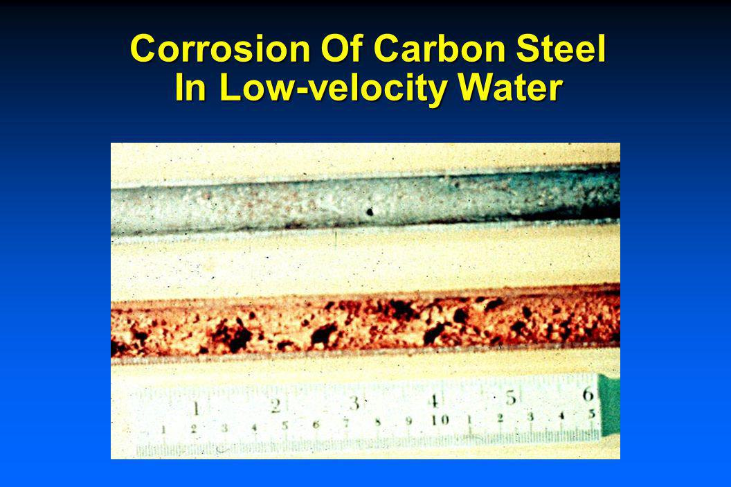Corrosion Of Carbon Steel Effect Of Velocity In Seawater
