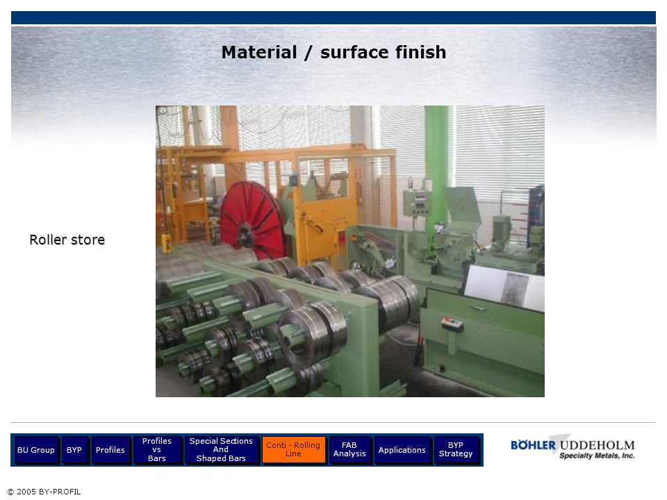 Material / surface finish