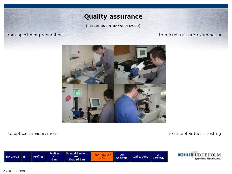 Quality assurance from specimen preparation