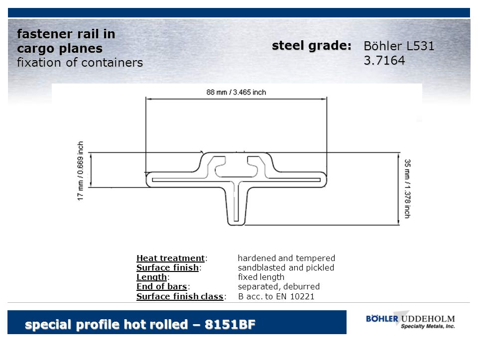 fixation of containers steel grade: Böhler L531 3.7164