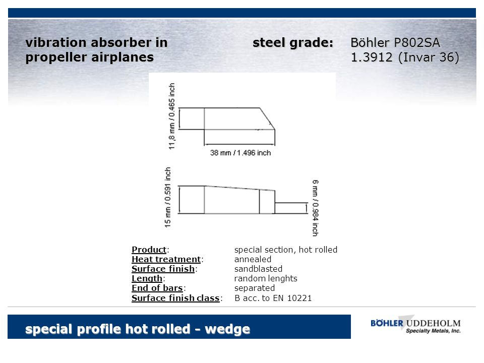 special profile hot rolled - wedge