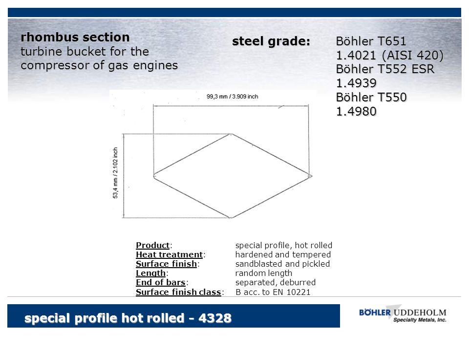compressor of gas engines steel grade: Böhler T651 1.4021 (AISI 420)