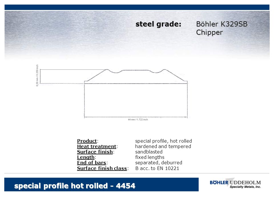 special profile hot rolled - 4454