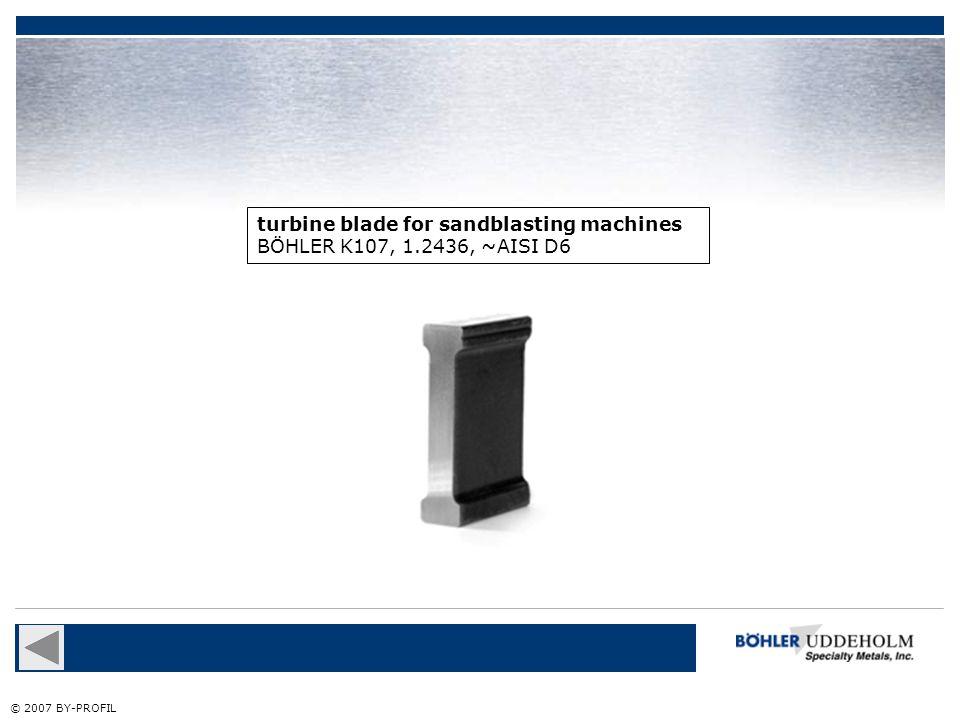 turbine blade for sandblasting machines BÖHLER K107, 1.2436, ~AISI D6