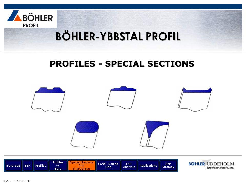 BÖHLER-YBBSTAL PROFIL PROFILES - SPECIAL SECTIONS
