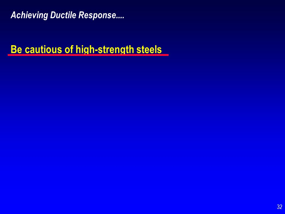 Be cautious of high-strength steels