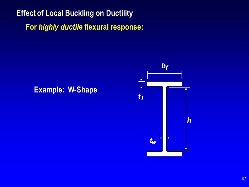 Effect of Local Buckling on Ductility
