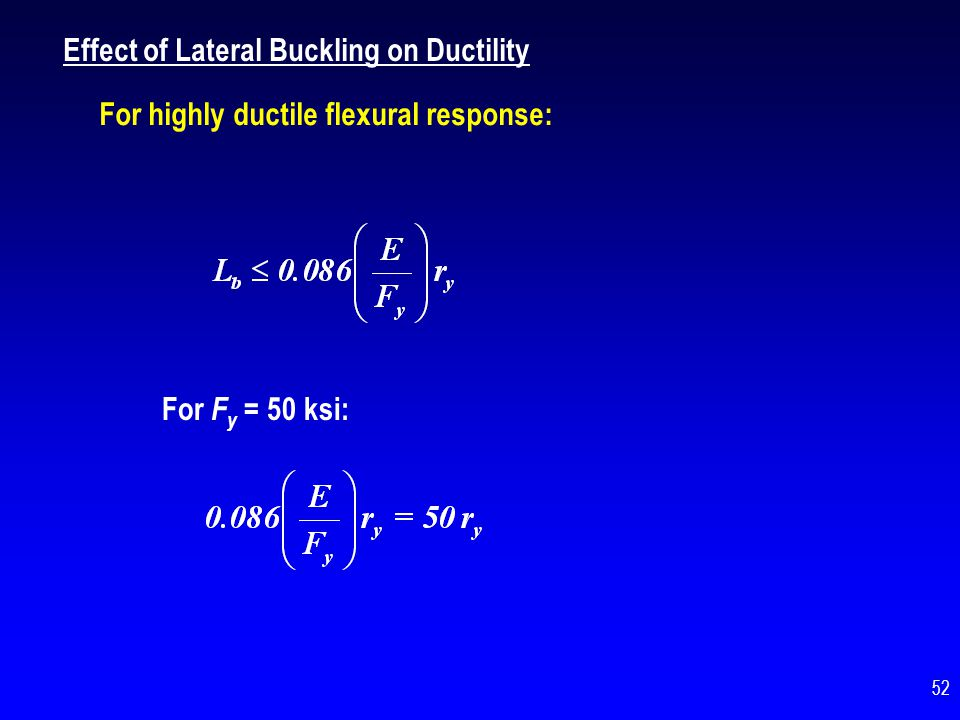 Effect of Lateral Buckling on Ductility