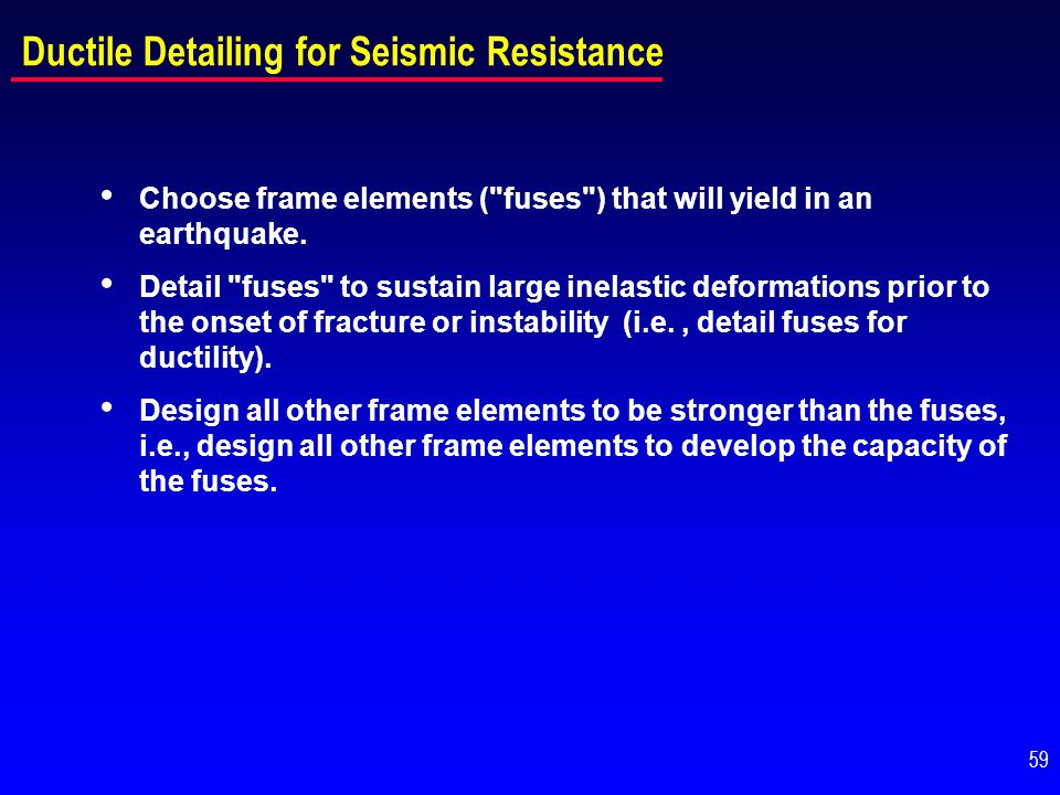 Ductile Detailing for Seismic Resistance