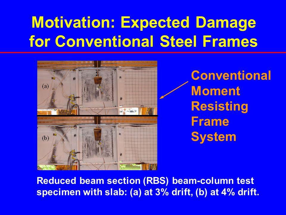 Motivation: Expected Damage for Conventional Steel Frames