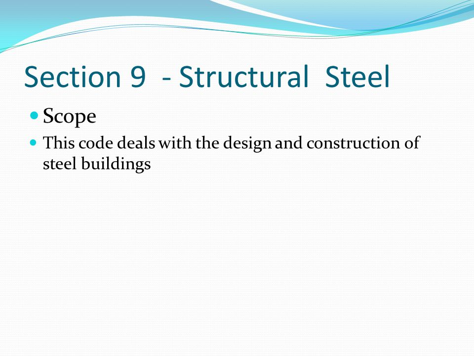 Section 9 - Structural Steel