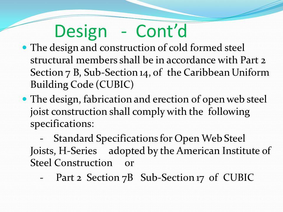 Design - Cont'd