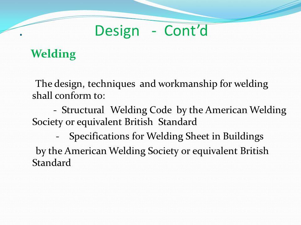 . Design - Cont'd