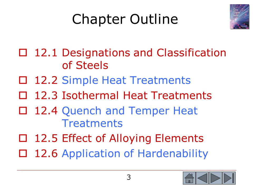 Chapter Outline 12.1 Designations and Classification of Steels