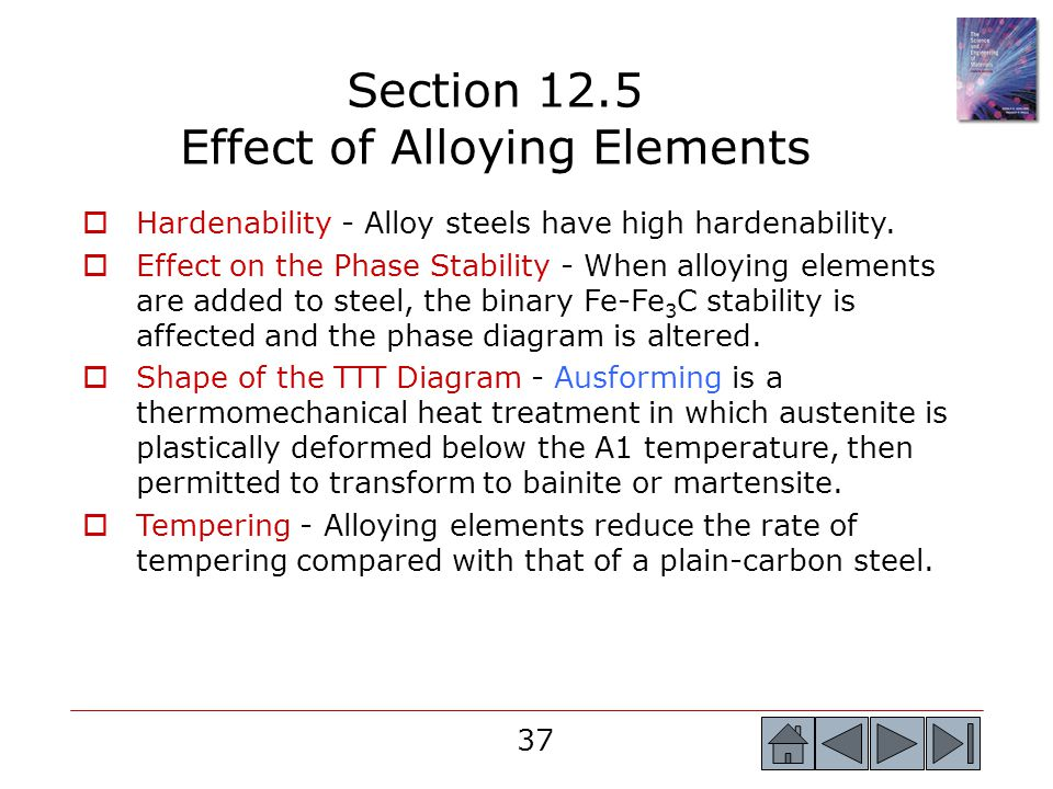 Section 12.5 Effect of Alloying Elements