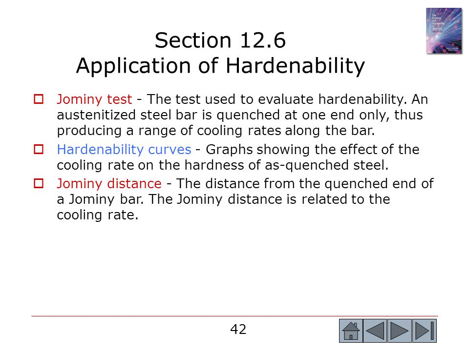 Section 12.6 Application of Hardenability
