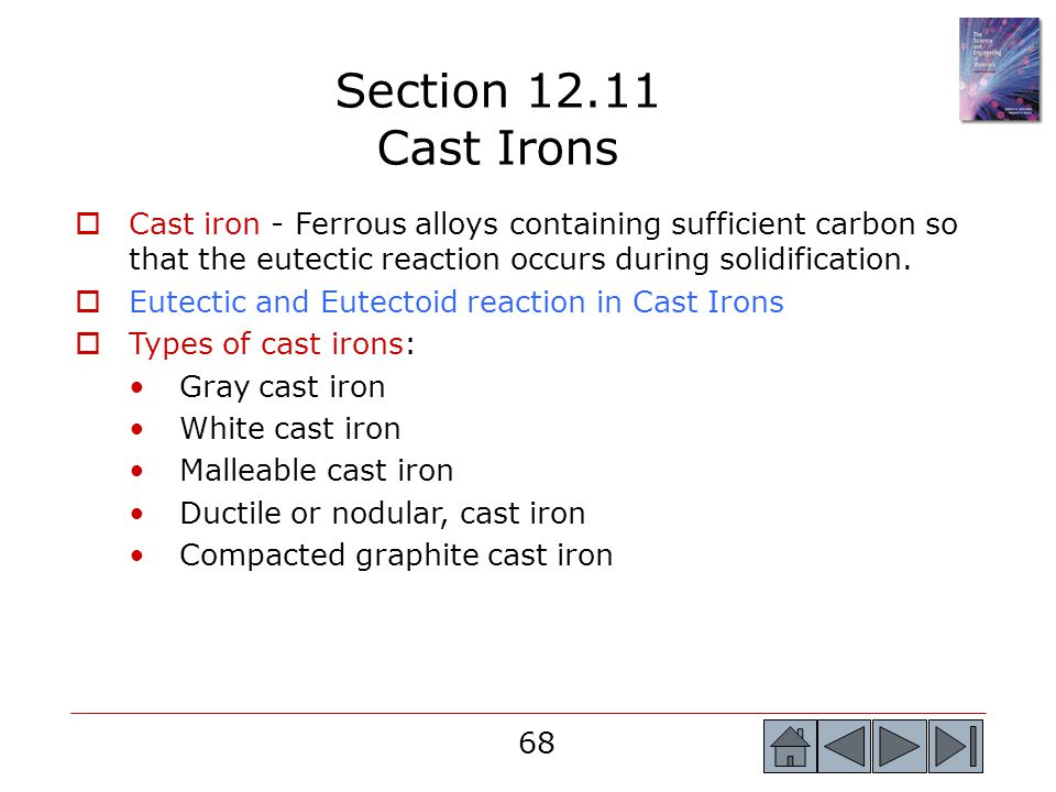 Section 12.11 Cast Irons