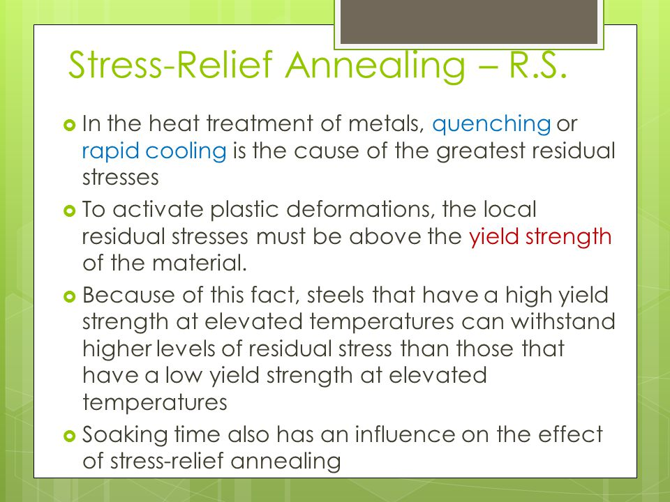 Stress-Relief Annealing – R.S.
