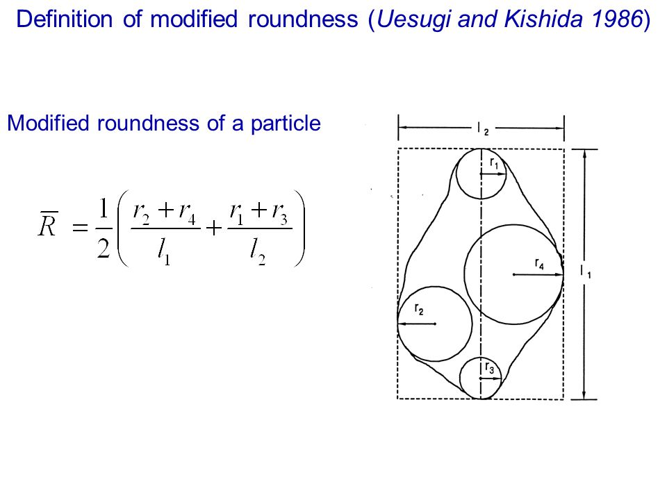 Definition of modified roundness (Uesugi and Kishida 1986)