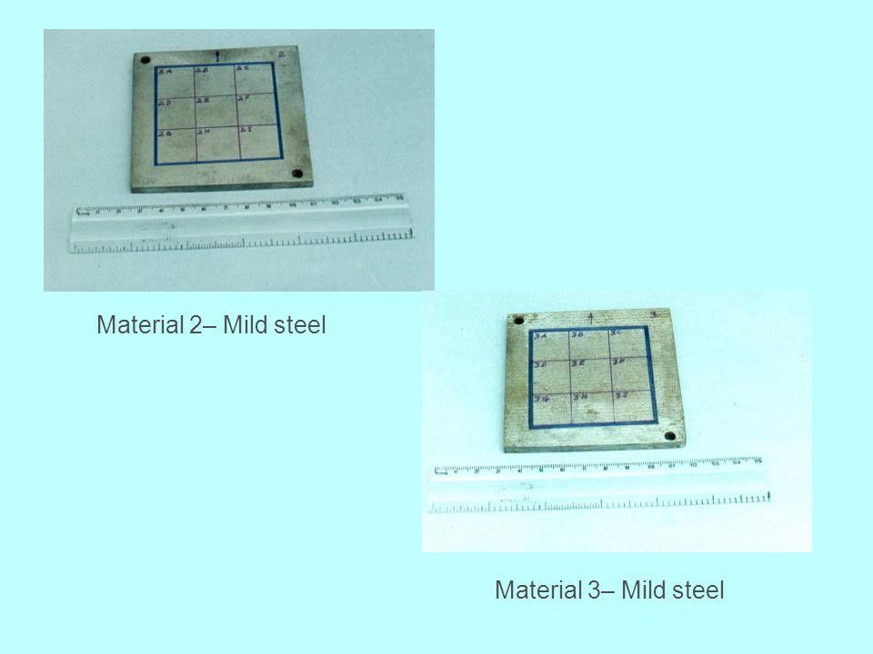 Material 2– Mild steel Material 3– Mild steel