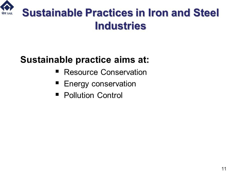 Sustainable Practices in Iron and Steel Industries