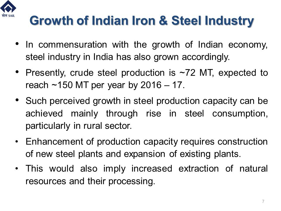 Growth of Indian Iron & Steel Industry