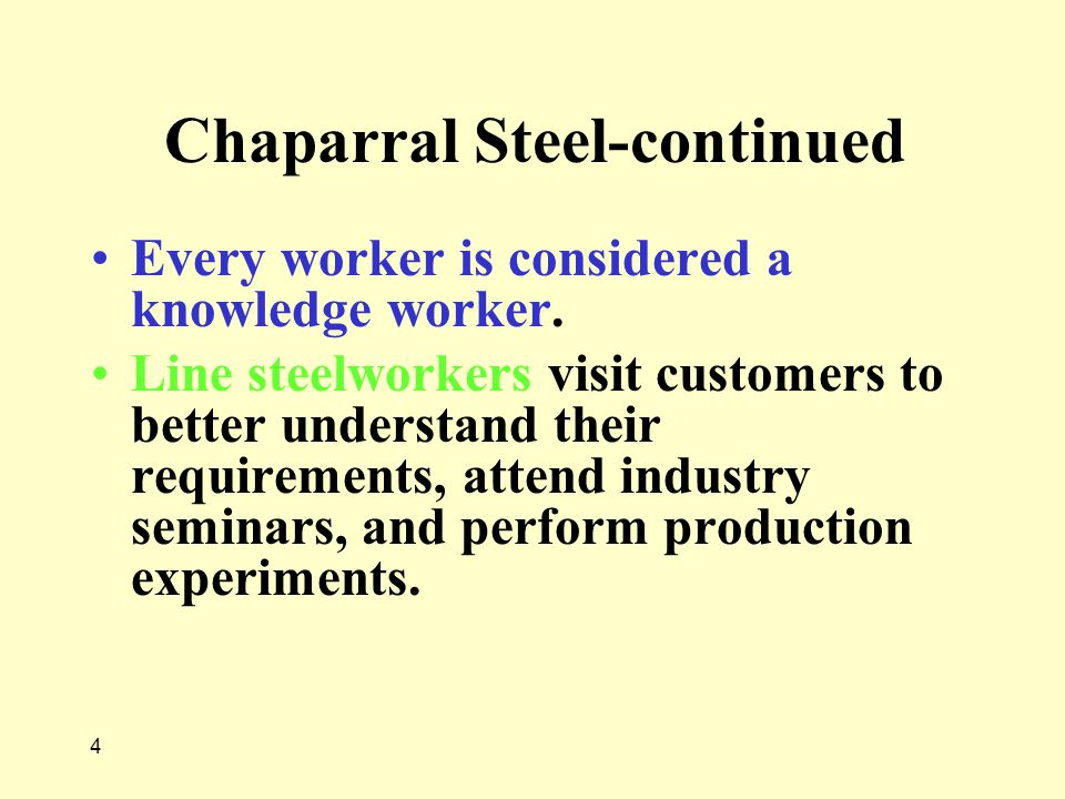 Chaparral Steel-continued