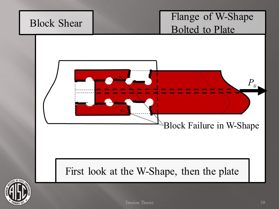 Flange of W-Shape Bolted to Plate