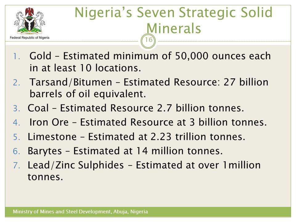 Nigeria's Seven Strategic Solid Minerals