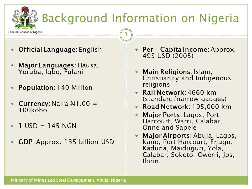 So Background Information on Nigeria