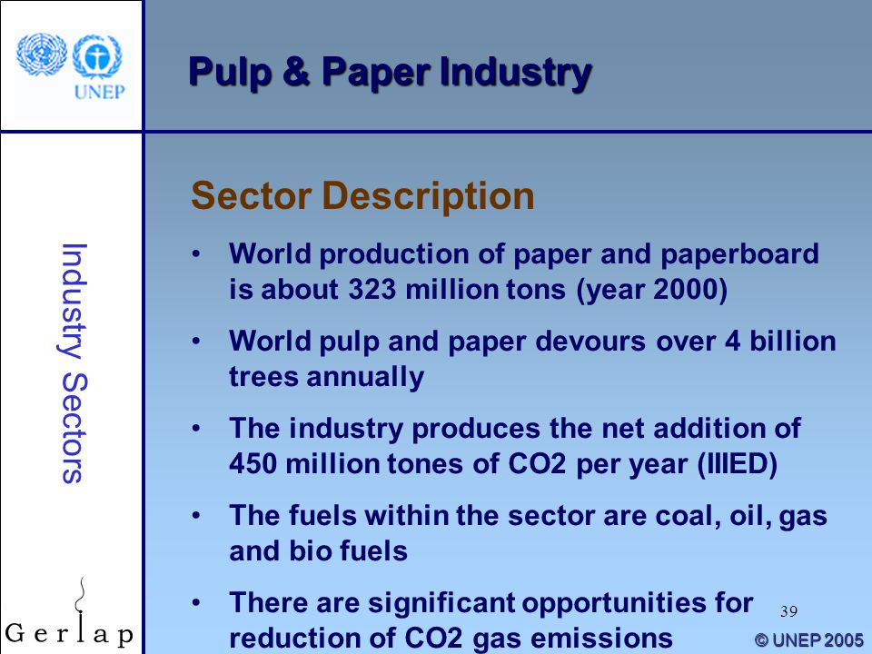 Pulp & Paper Industry Sector Description Industry Sectors