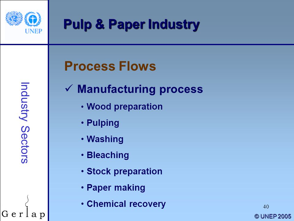 Pulp & Paper Industry Process Flows Manufacturing process
