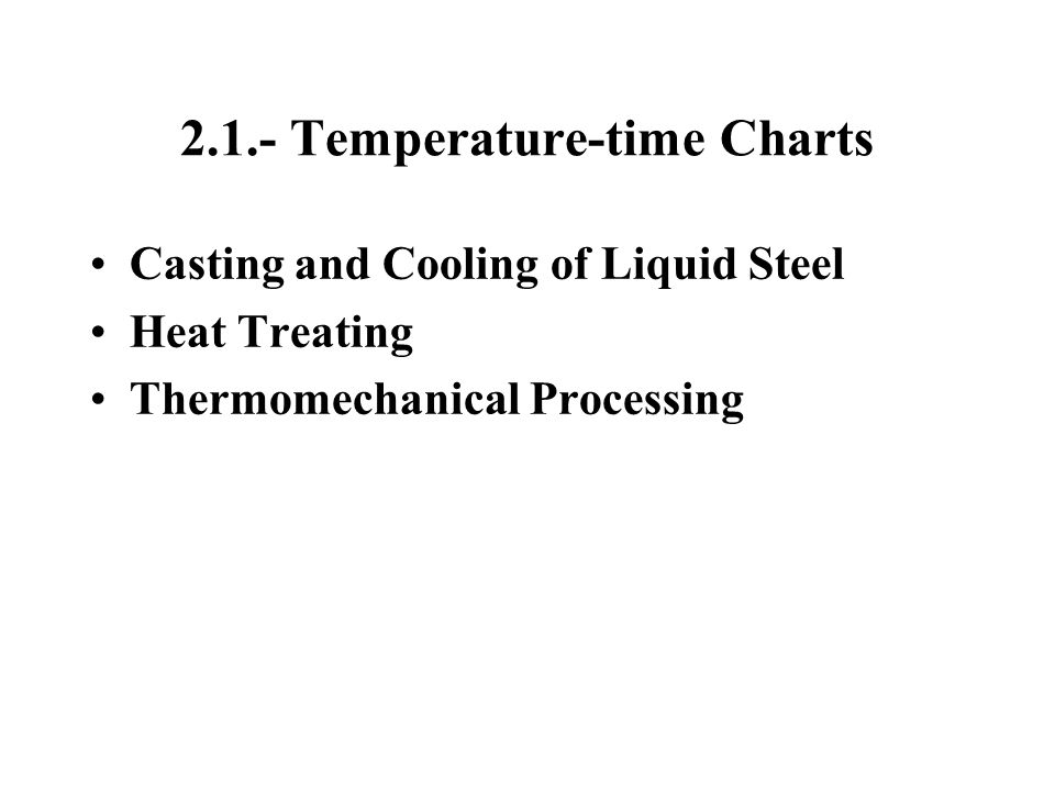 2.1.- Temperature-time Charts