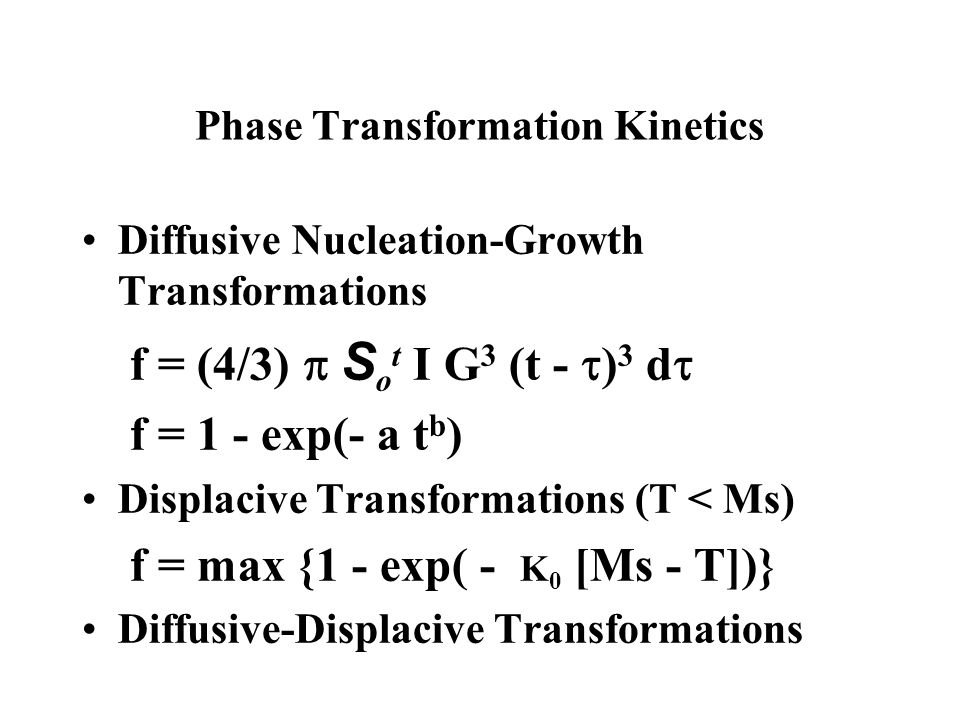Phase Transformation Kinetics