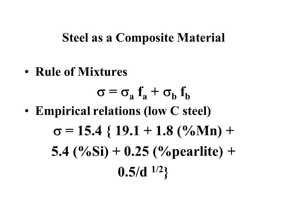 Steel as a Composite Material