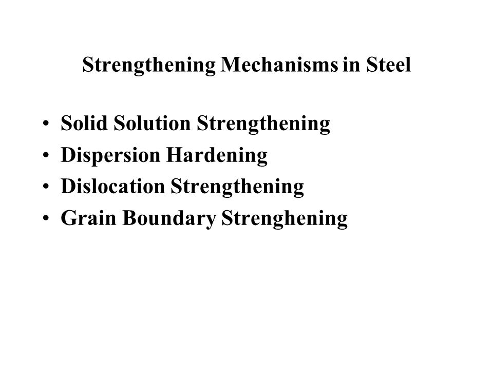 Strengthening Mechanisms in Steel