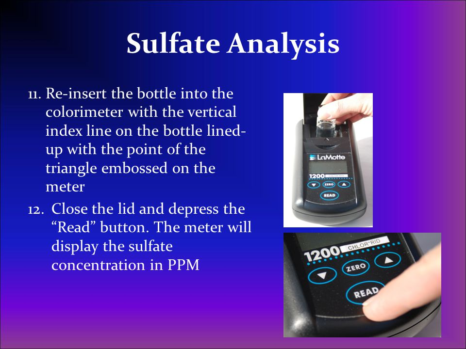Sulfate Analysis