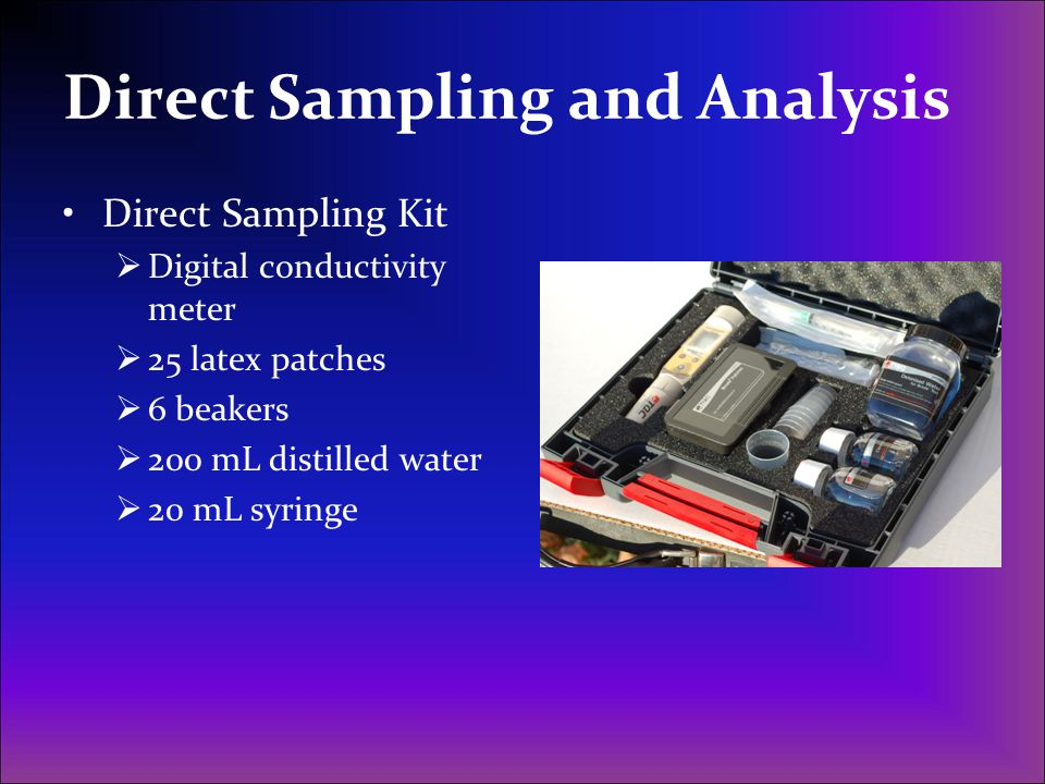Direct Sampling and Analysis