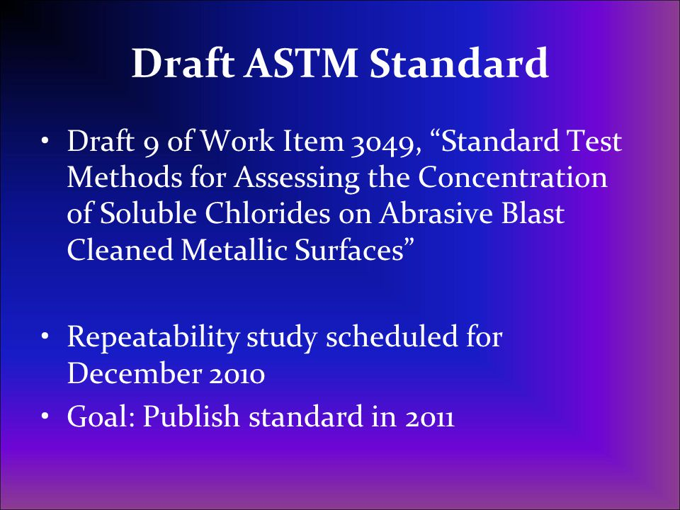 Draft ASTM Standard