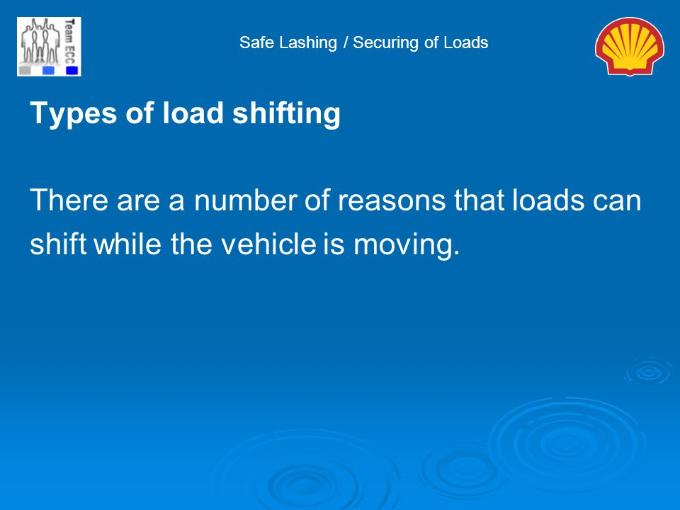 There are a number of reasons that loads can