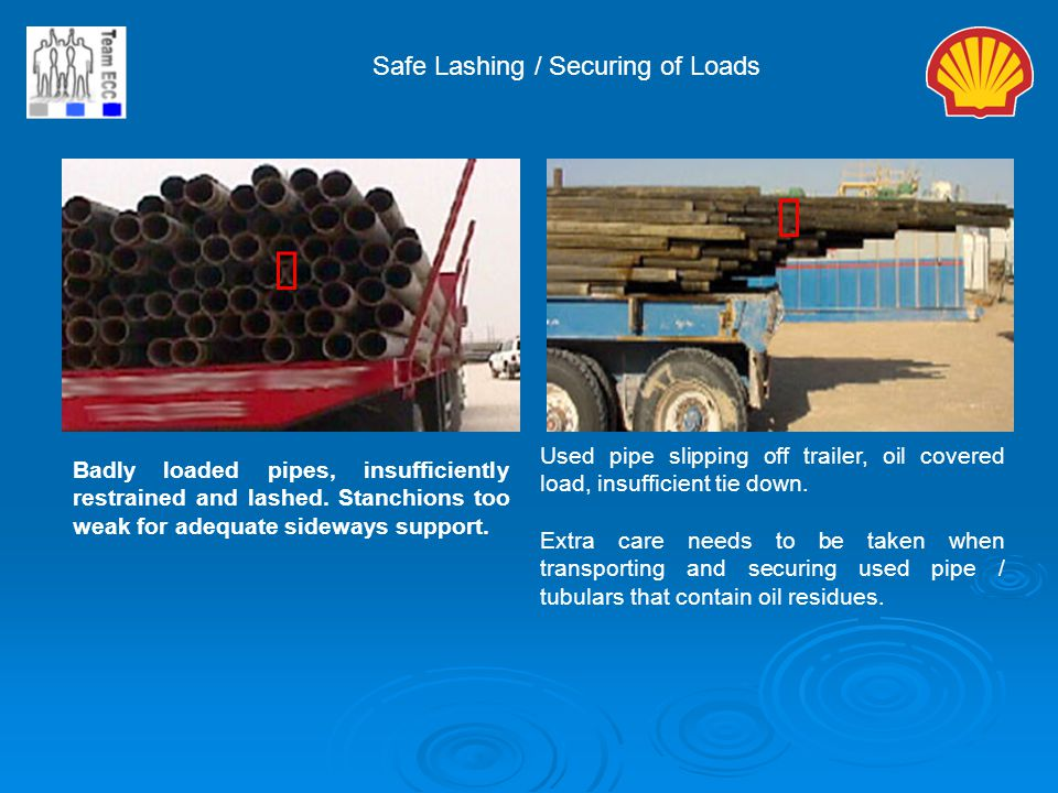 ý ý Safe Lashing / Securing of Loads