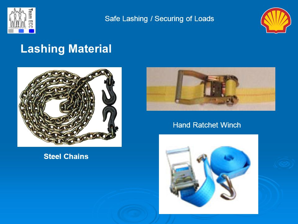 Lashing Material Safe Lashing / Securing of Loads Hand Ratchet Winch
