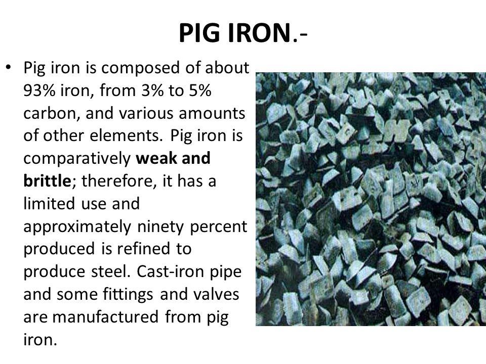 PIG IRON.-