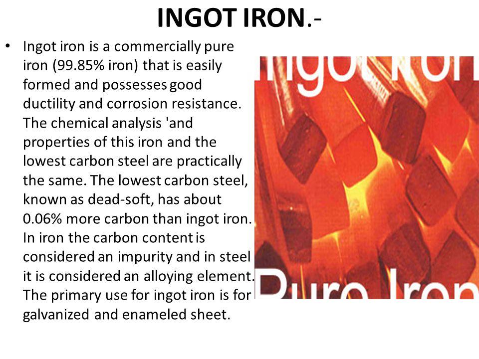 INGOT IRON.-