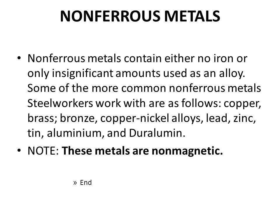NONFERROUS METALS